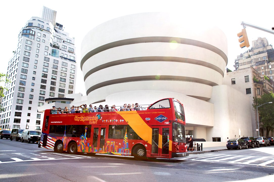 Double decker bus Guggenheim | Things to do in NYC